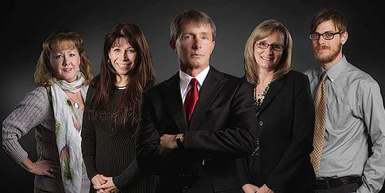 Parkersburg personal injury lawyer Jim Leach and team