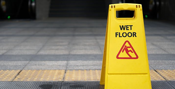 Wet floor sign to avoid Slip and Fall accidents